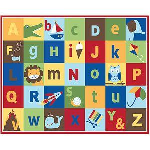 "Mainstays Kids Teach Me Alphabet Nylon Rug, Multi-color  $19.96    40""x50"" (Walmart)"