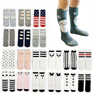 October Elf Unisex Baby Knee High Stockings Tube Socks 6 Pairs: Amazon.ca: Clothing & Accessories