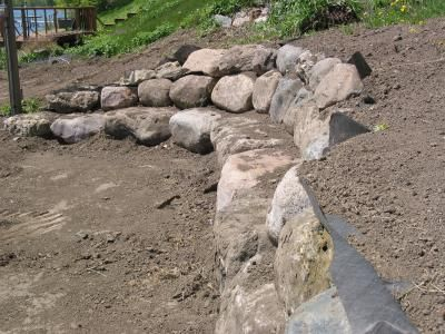 Boulder Wall Fire Pit Area Patio Porch Fire Pit