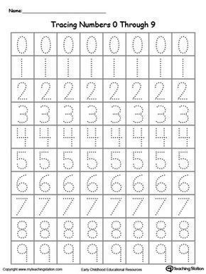 tracing numbers 0 through 9 number tracing worksheets and number. Black Bedroom Furniture Sets. Home Design Ideas
