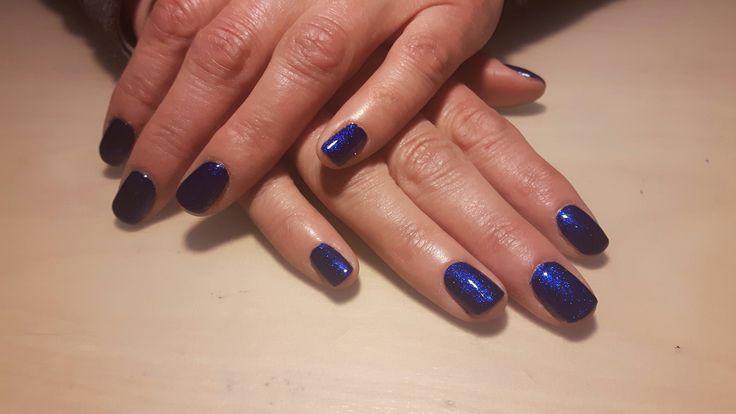 Hybrydy, hybrid nails, semilac, blue, niebieskie paznokcie, paznokcie, nails