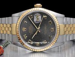 Rolex - Datejust 16233 Cassa: acciaio/oro - 36 mm Ghiera: oro giallo Vetro: zaffiro Colore quadrante: grigio Bracciale: jubilee Chiusura: deployant Movimento: automatico