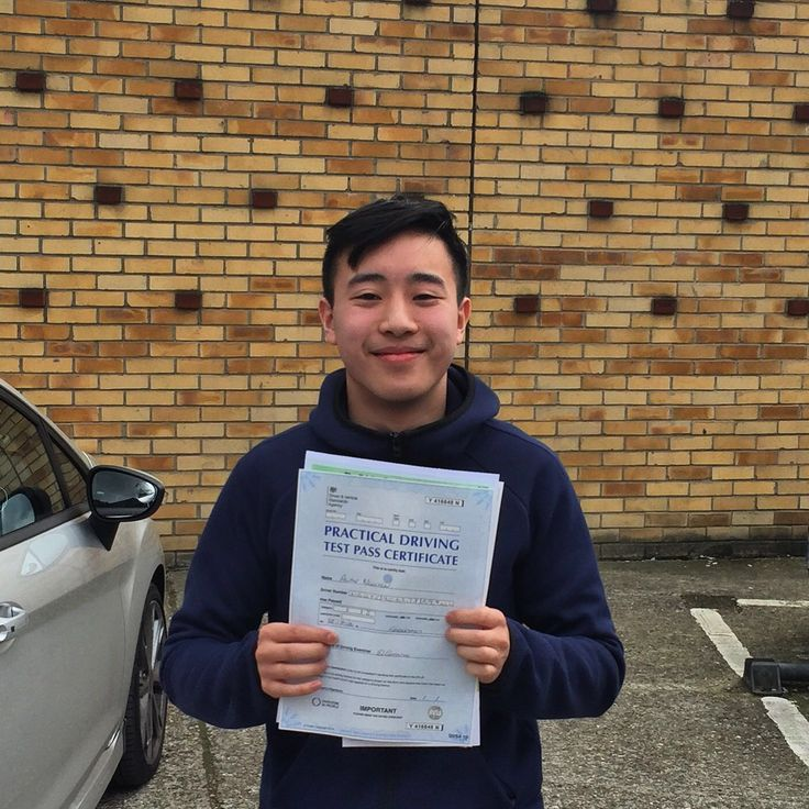 Alan from poplar passed first time goodmayes driving test centre.