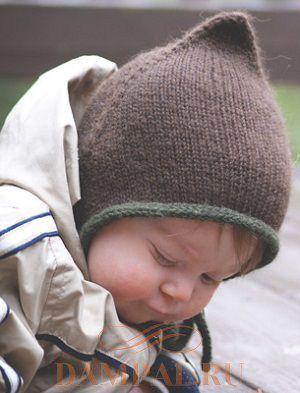 Детская шапочка «Bebeguin» Выполнение детской шапочки от дизайнера Maude L. Baril начинается от верхушки. Шапочка вяжется до тех пор, пока она не станет подходить по размеру.