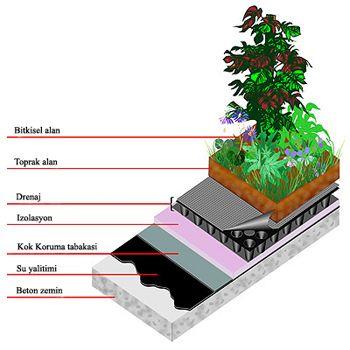 Son yıllarda kent yaşamının insanlarda oluşturduğu stresin ve yeşil yoksunluğunun çözümü olarak çatı bahçeleri karşımıza çıkar.