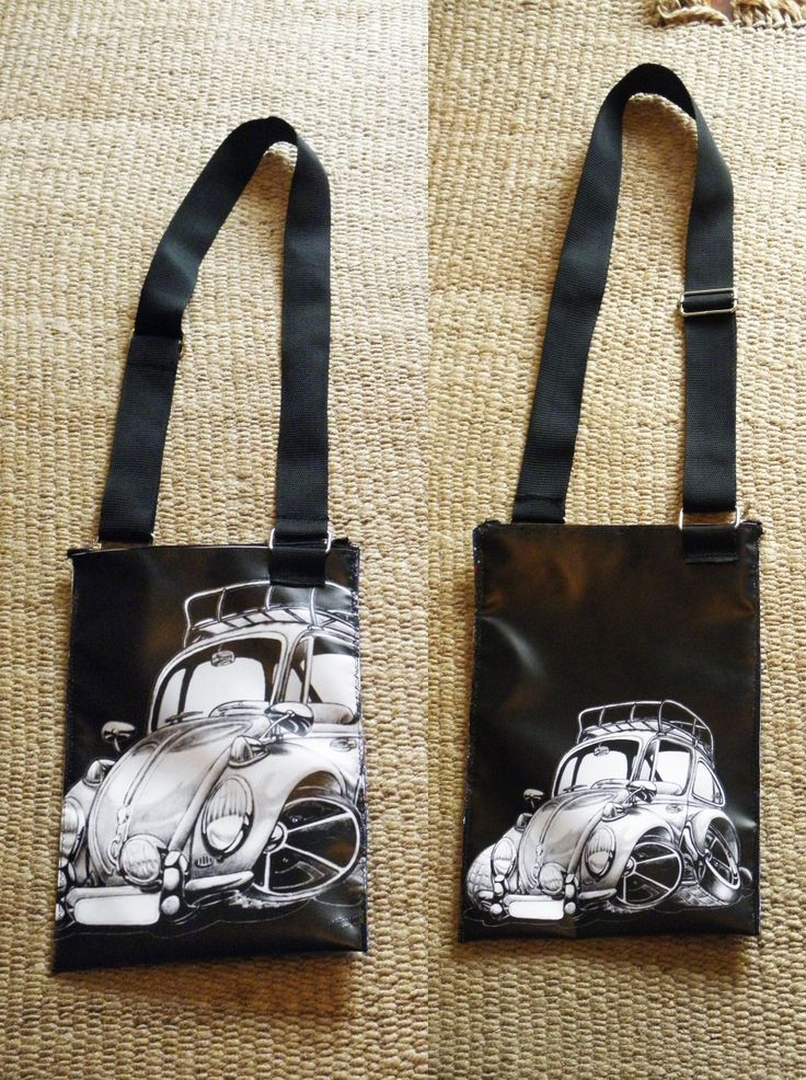 PLASTIC BAG PRINTED WITH A CAR, TWO SIDES, WATERPROOF