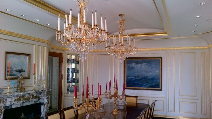 Eyremount Dining Room & Chandeliers.