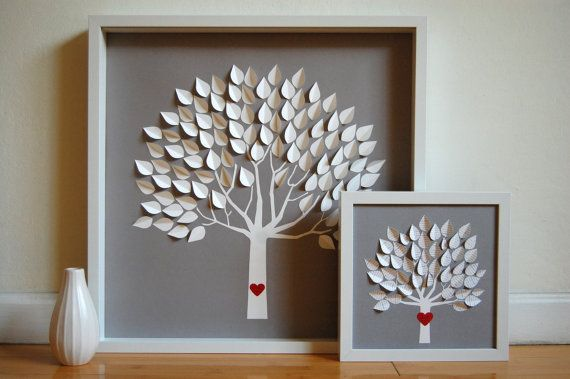 I am making the leaves out of cards we received for our wedding and the birth of our kids
