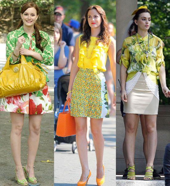 Gossip Girl trends: Blair's bright prints