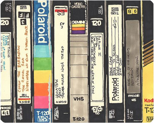 VHS | permanent marker on paper, 8 1/4 x 10 1/4 inches, hbt0… | Flickr
