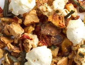 Movie night tea... with maple and apple, green tea, and popcorn! No calories and tastes fantastic. From David's Tea