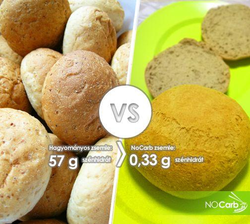 Hagyományos zsemle -VS- NoCarb zsemle | Klikk a képre a receptért!