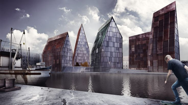 The architectural visualization of Krøyers Plads by Erick van Egeraat / NODE Visual