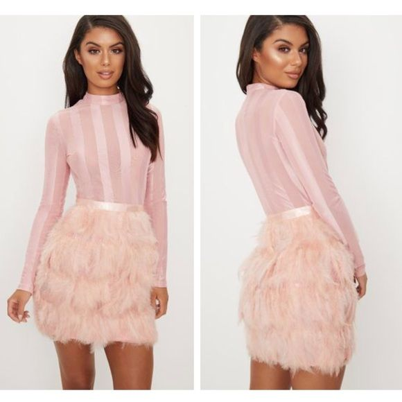I Just Discovered This While Shopping On Poshmark Pink Feather Bottom Dress Check It Out Price 70 Size S Listed By Asapshanti Dresses Pink Feathers Pink