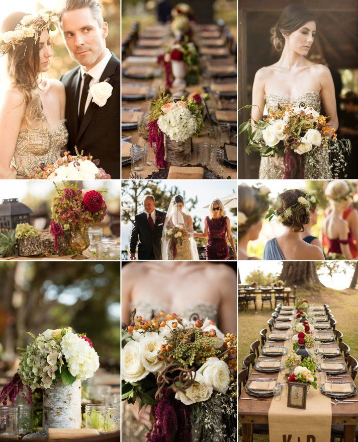 9 Gorgeous Wedding Color Palettes for Autumn | OneWed