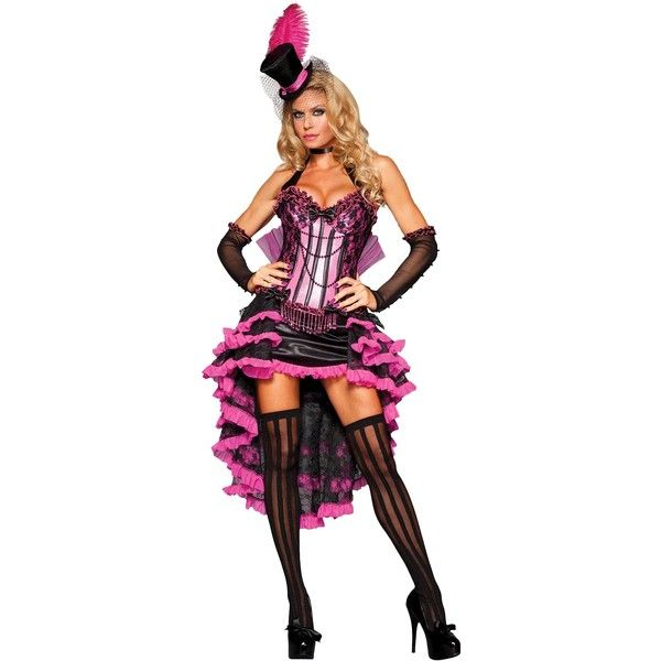 Rubies Women'sBurlesqueBeautyAdultCostume-S ($127) ❤ liked on Polyvore featuring costumes, halloween, multicolor, ladies costumes, rubies costumes, womens halloween costumes, ladies halloween costumes and womens costumes