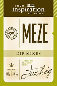 Meze Dip Mix for your Velvety Spided Pumpkin Soup Recipe.  All our products are hand blended.  Blend of exotic spices and herbs and carrots. Designed for mixing in Greek Style Yogurt or Labne as a dip or condiment with lamb, chicken or beef.