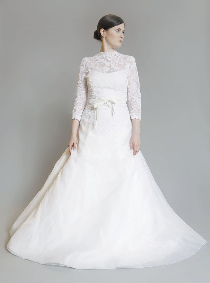 Vera Wang Luxe Lace Ball Gown Modest Tznius Wedding