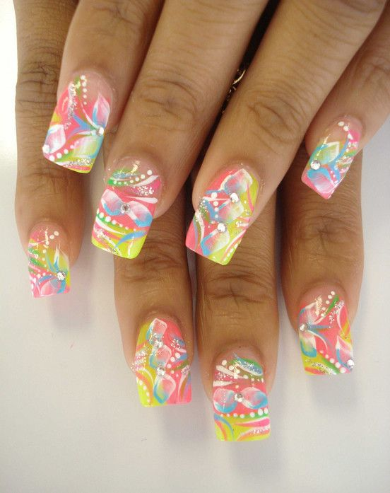 New Airbrush Nail Designs Gallery
