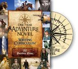 One Year Adventure Novel, Homeschool Writing Curriculum Review ~ I think we might use this in a year or two! slp