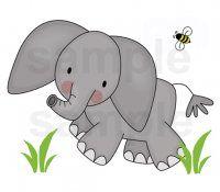 Elephant Wall Art Decal Mural Safari Jungle Animal Nursery Decor
