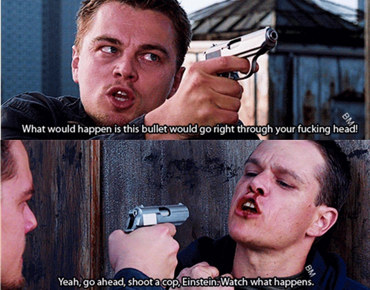 Leonardo Dicaprio THE DEPARTED #boston <3