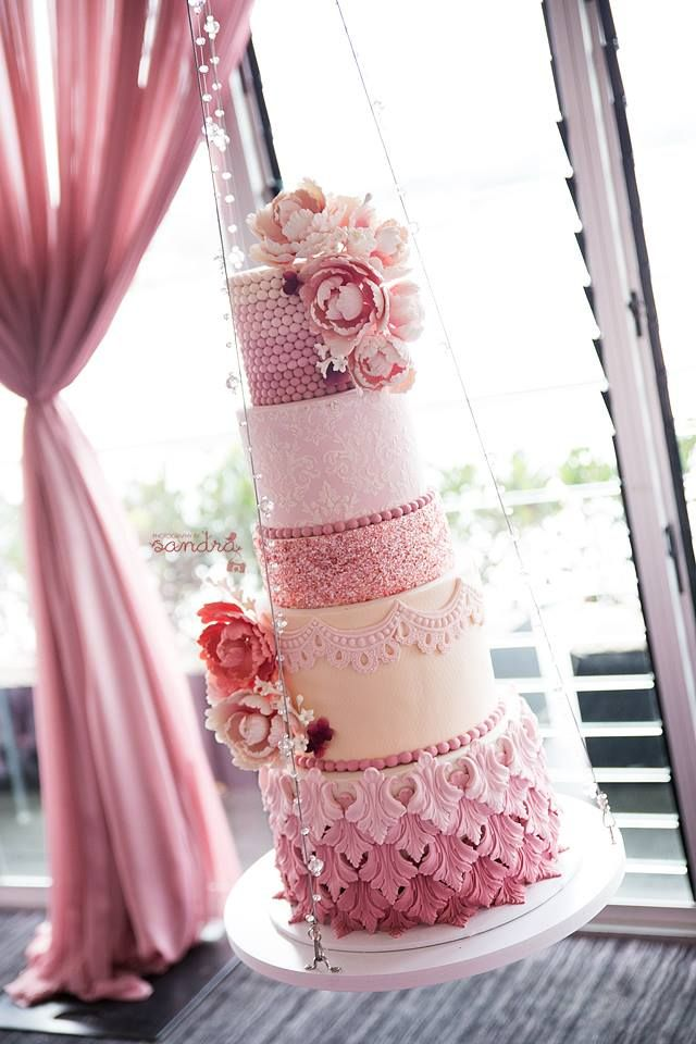 ~ we ❤ this! moncheribridals.com ~ #weddingcake #pinkwedding