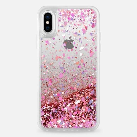 Casetify iPhone X Liquid Glitter Case - Love Confetti Explosion Transparent by Organic Saturation #Iphone #iphonexreview, #IphoneCases