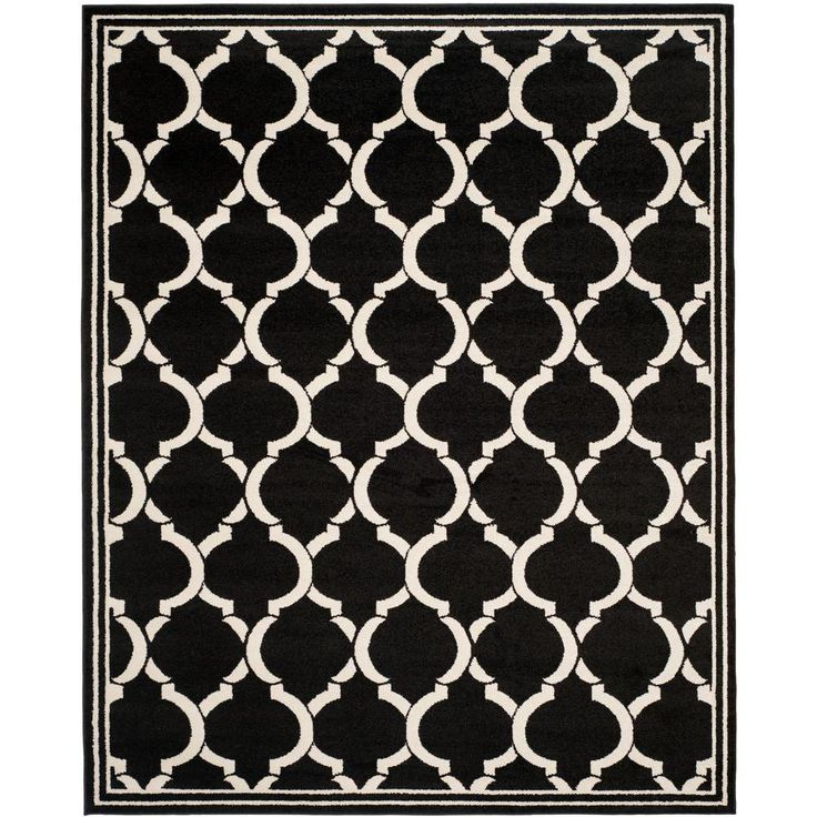 Amherst Anthracite/Ivory (Grey/Ivory) 9 ft. x 12 ft. Indoor/Outdoor Area Rug