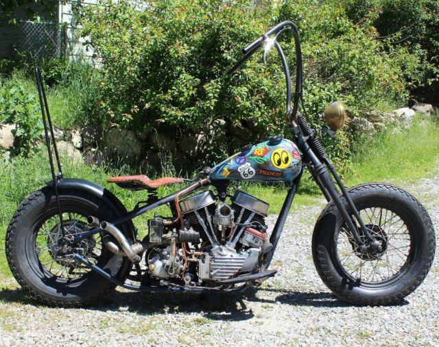 1949 Harley Davidson EL panhead bobber chopper springer suicide clutch custom for sale in Post Falls, Idaho, United States