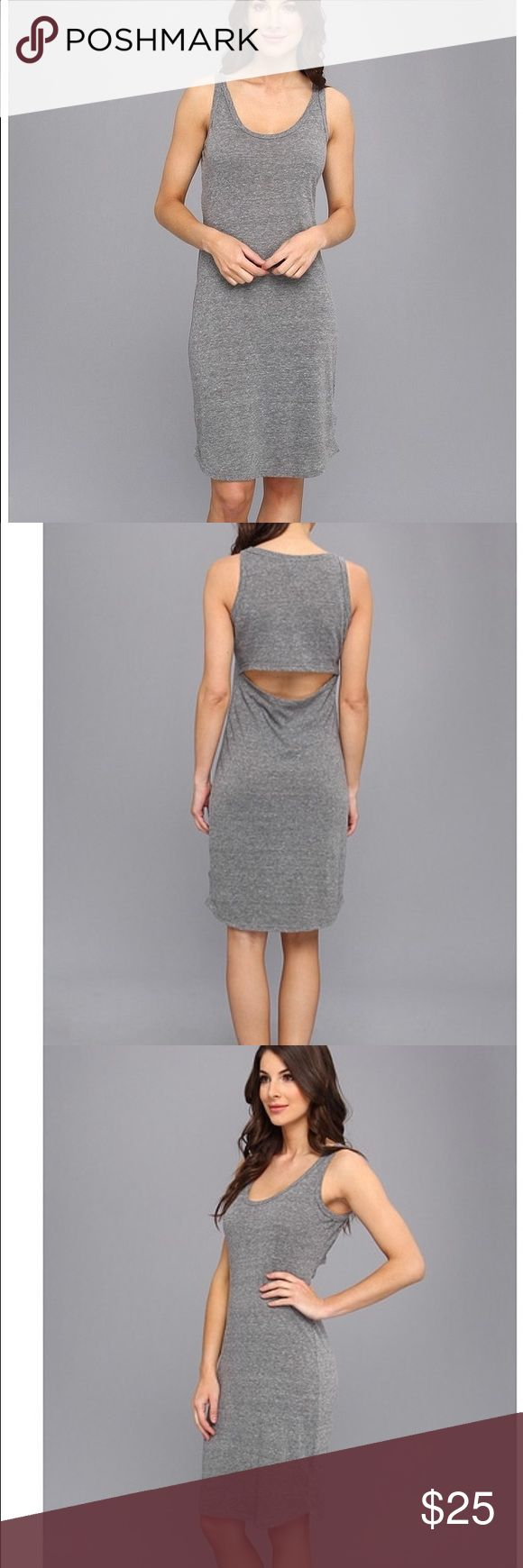 C&C California open back tank dress Grey bodycon tank dress in a super soft cotton. Unique open back, perfect for hot summer weekends and days ah the beach. C&C California Dresses Midi