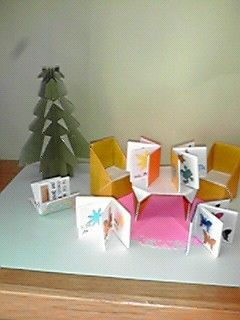 Origami _クリスマス(小学校図書室の飾り付け)