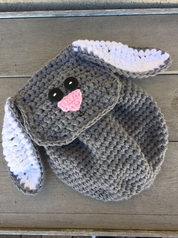 Gray Bunny Backpack for Toddlers Easter Gift Ready to Ship