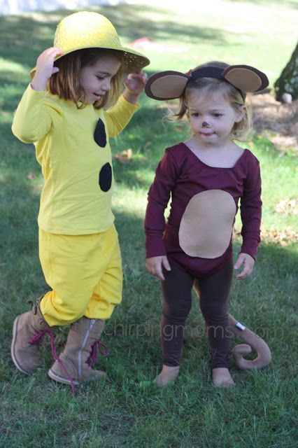 the chirping moms: DIY Halloween Costumes: Curious George & The Man With The Yellow Hat