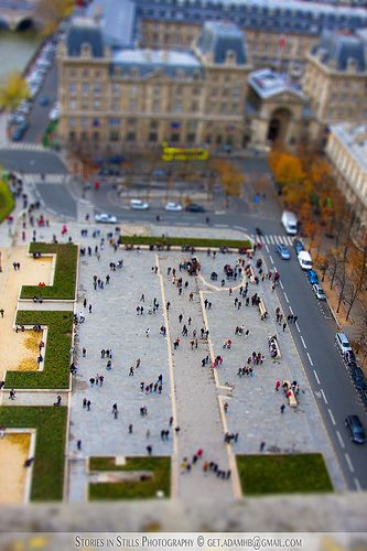 View from top of Notre Dame in Paris