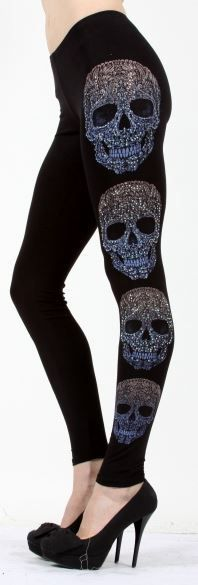Triple Threat Skull Leggings - FTGS. I have some just like these and they are my favorite!!!