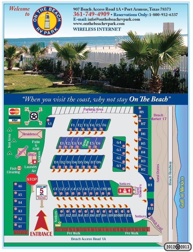 """On the Beach RV Park"" in Port Aransas, Texas                                                                                                                                                                                 More"