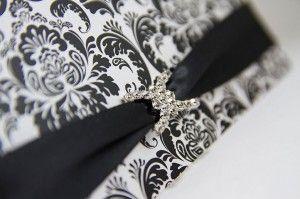 Wedding invitation, Elegant wedding invitations, black and white wedding invitations, damask wedding invitations, Black tie wedding invites by PapierCouture1 on Etsy https://www.etsy.com/listing/158955145/wedding-invitation-elegant-wedding