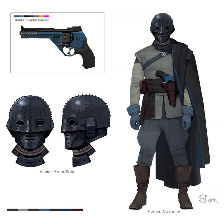 The idea for this guy is he repurposed armor that he collected off of a high valued bounty. Probably an Imperial Bodyguard of some sort. Designed this sometime in '14. Funny how similar the helmet looks to the shadowtroopers in Rogue One!
