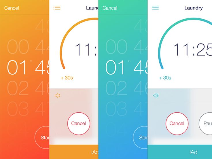 color scheme options for the timer app see attached for more full size screens - Colors App