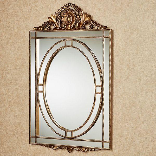 Anwen Aged Gold Ornate Wall Mirror Mirror Wall Mirror Wall