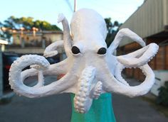 Creepy Paper Mache Octopus: Craft Tutorial