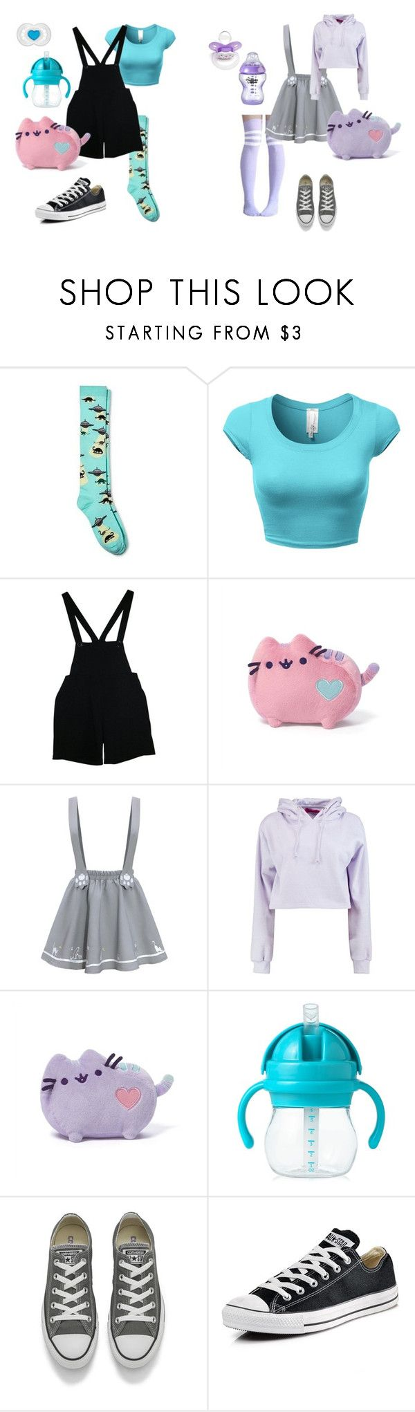 """#43{DDLG - Little(s)}"" by ofowlandwolf1617 ❤ liked on Polyvore featuring Xhilaration, American Apparel, Boohoo, OXO, Converse, little, littlegirl, daddy, ddlg and babysitter"