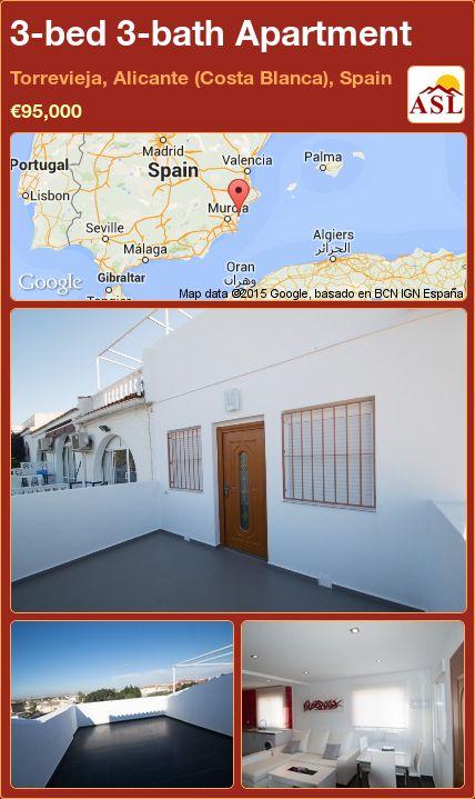 3-bed 3-bath Apartment in Torrevieja, Alicante (Costa Blanca), Spain ►€95,000 #PropertyForSaleInSpain