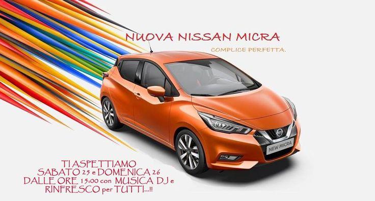 Dopo il gran successo dell'anteprima presso la Discoteca Orsa Maggiore (LC), la PRIMA AUTO ad entrare sulla PISTA DA BALLO ESTERNA....!!  Vi aspettiamo Sabato 25 e Domenica 26 Marzo presso il nostro showroom Nissan Nis-car di Olginate (LC), per vedere e provare la Nuova Nissan Micra...!!!  con Musica DJ SET by DJFollow.it e rinfresco per tutti.......!!!!!