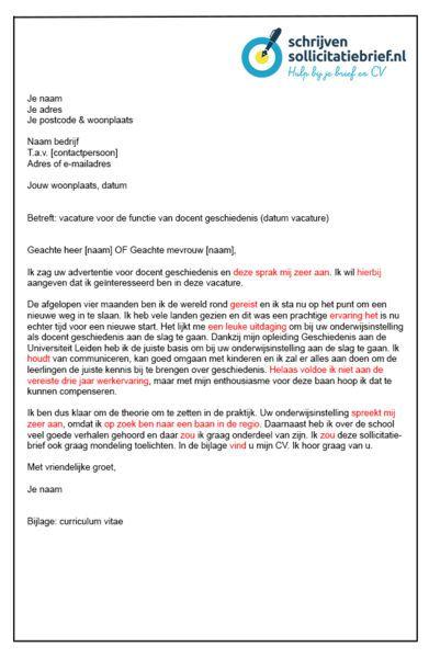 Schrijven Sollicitatiebrief - Slecht voorbeeld van een sollicitatiebrief