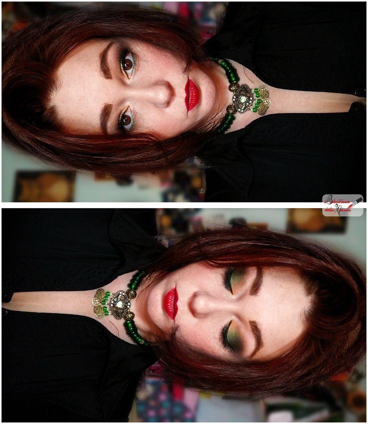 Fondotinta #Maybelline Blush #NeveCosmetics (blushissimi) Contouring #Mulac  Ombretti di #Alkemilla (fluorite, occhio di tigre e ambra) Ombretto #NeveCosmetics (Drumroll) Ombretti #UrbanDecay Cosmetics Naked basic (faint e crave)  Sopracciglia #NABLA #sclerossetto con il #lip4kiss n 5 di #PaolaP   #makeup #makeupEyes  #eyes #mokarta #maquillage #blogger #makeupgreen
