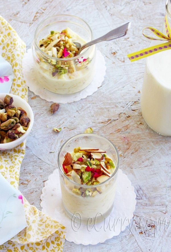 Indian Rice Pudding with Nuts and Saffron