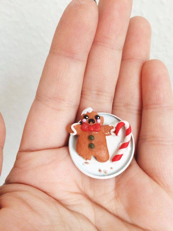 Kleiner Lebkuchenmann, Weihnachts-Schmuck. Gibt's bei Etsy.