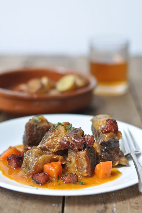 Slow Cooked Beef Ribs with Chorizo...this is a fantastic winter recipe. Yum!